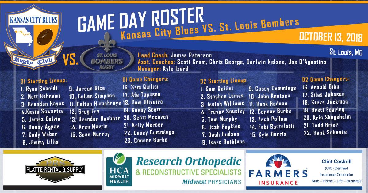 Kansas City Blues RFC vs St. Louis Bombers